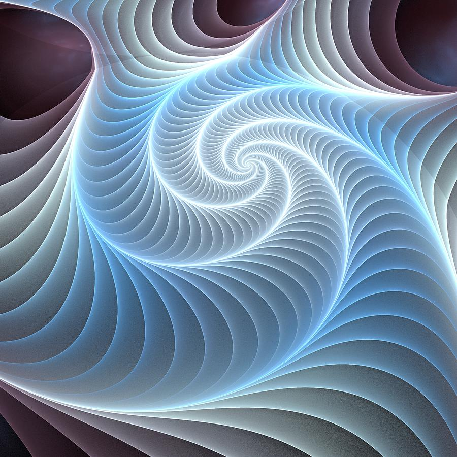 Glowing Digital Art - Glowing Spiral by Anastasiya Malakhova