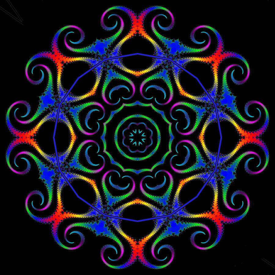 Glowworm Circle Digital Art
