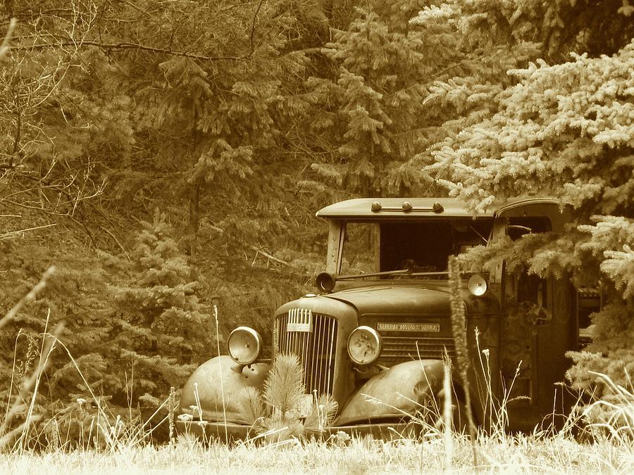 Gm Truck  Sepia Photograph