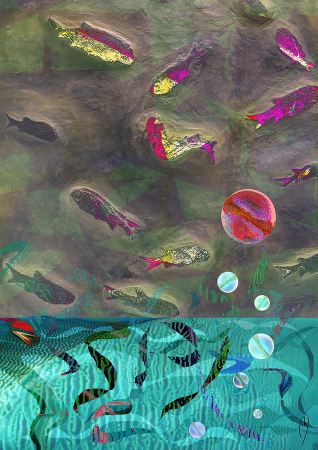 Maraia Digital Art - Go Fish by Maria Jesus Hernandez