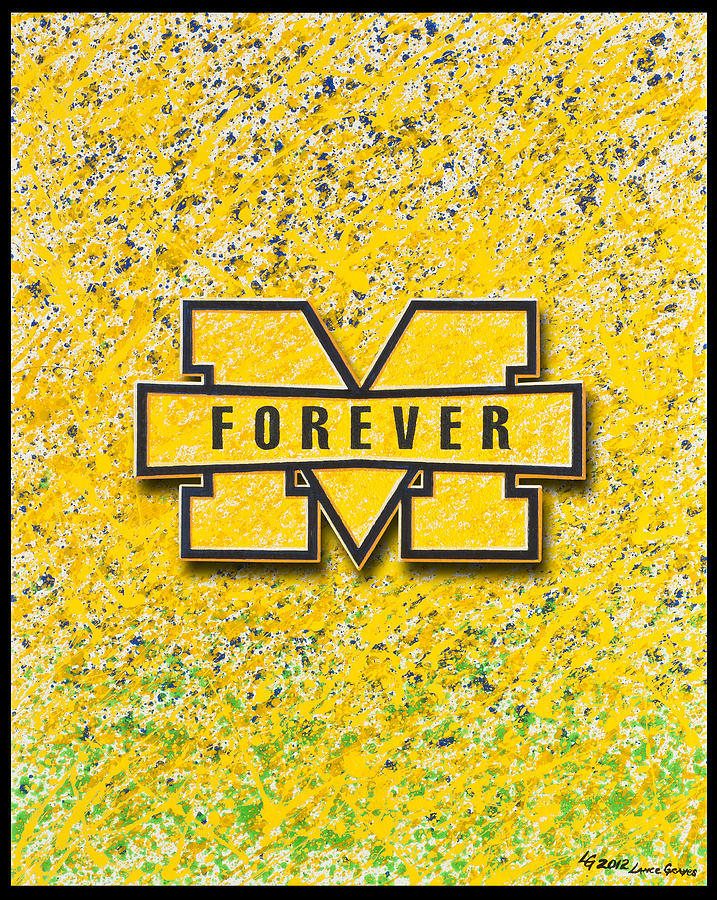 Teams Painting - Go Michigan by Lance Graves