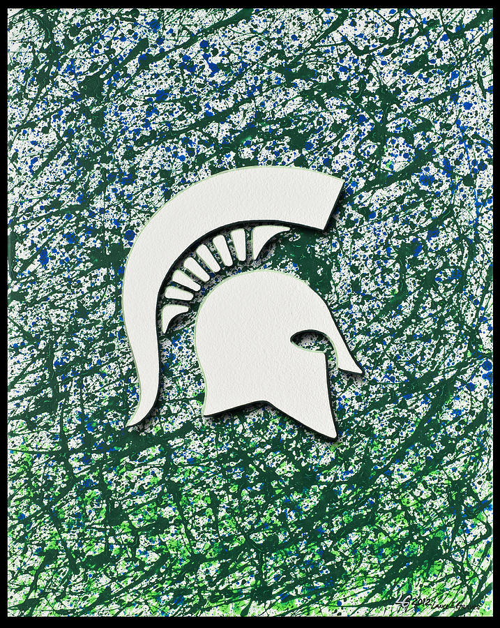 Go Spartans Painting  - Go Spartans Fine Art Print