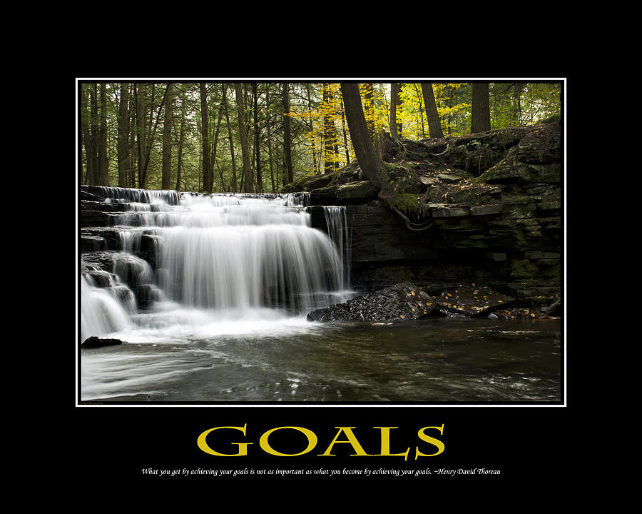 Goals Inspirational Motivational Poster Art Photograph