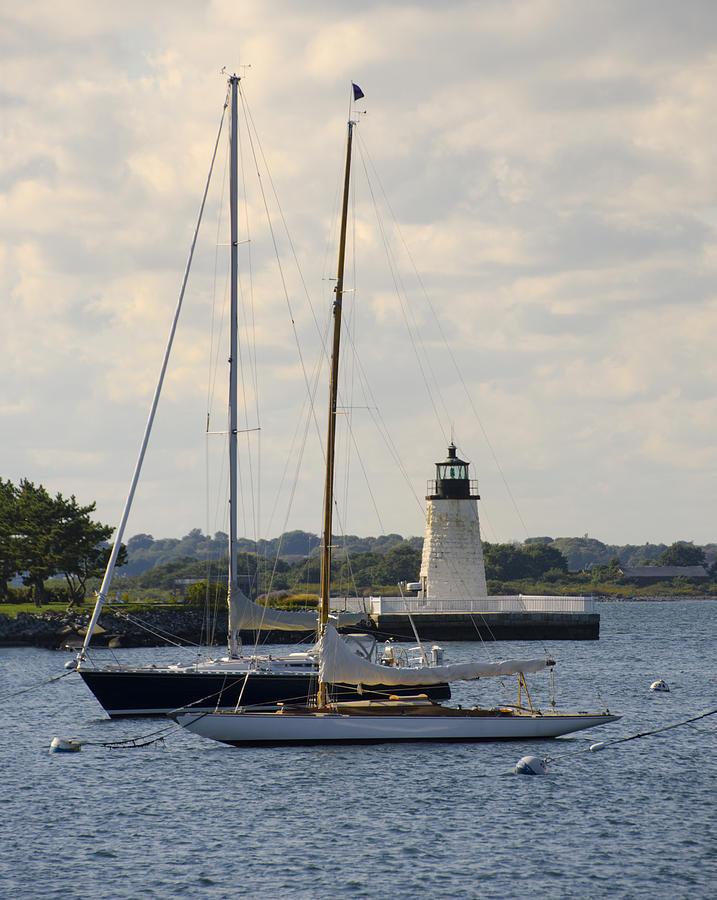 Goat Island Lighthouse - Newport Rhode Island Photograph ...  Goat Island Lighthouse