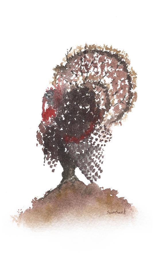 Gobbler Tree 799 Painting  - Gobbler Tree 799 Fine Art Print