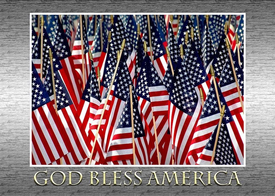 Flag Photograph - God Bless America by Carolyn Marshall