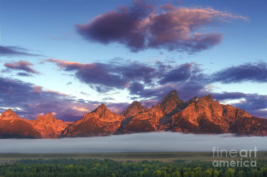God Morning Tetons Photograph