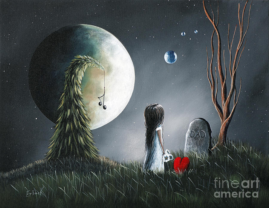 Gothic Fantasy Painting - God Must Need You More Than We Do By Shawna Erback by Shawna Erback