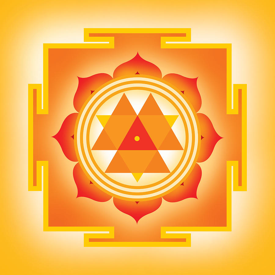 Goddess Durga Yantra Digital Art