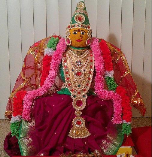 Goddess Lakshmi Sculpture - Goddess Lakshmi Idol by M Ande