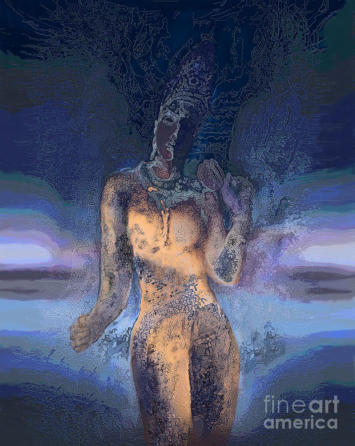 Goddess Digital Art  - Goddess Fine Art Print