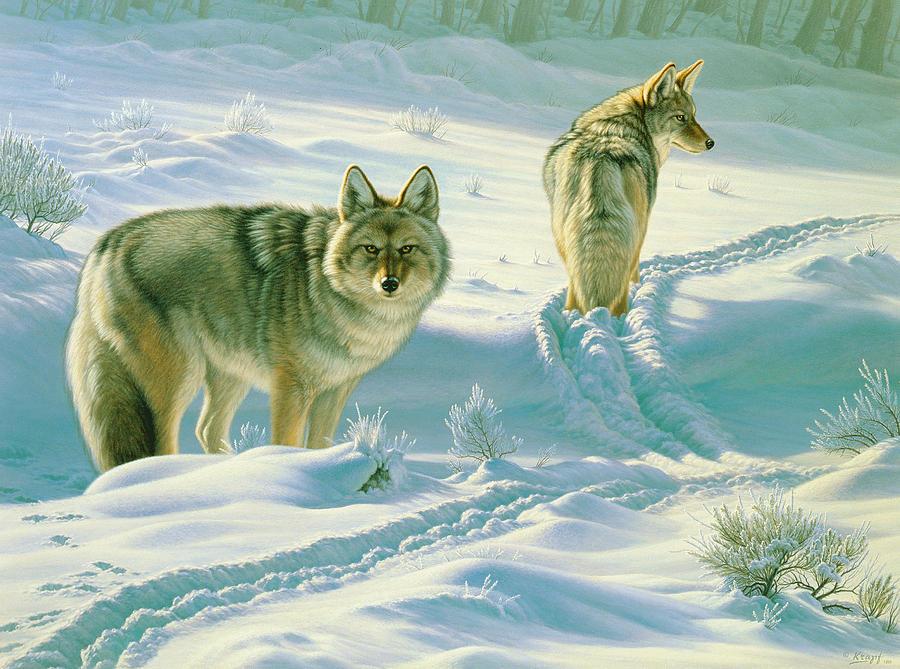 Wildlife Painting - Gods Dogs by Paul Krapf