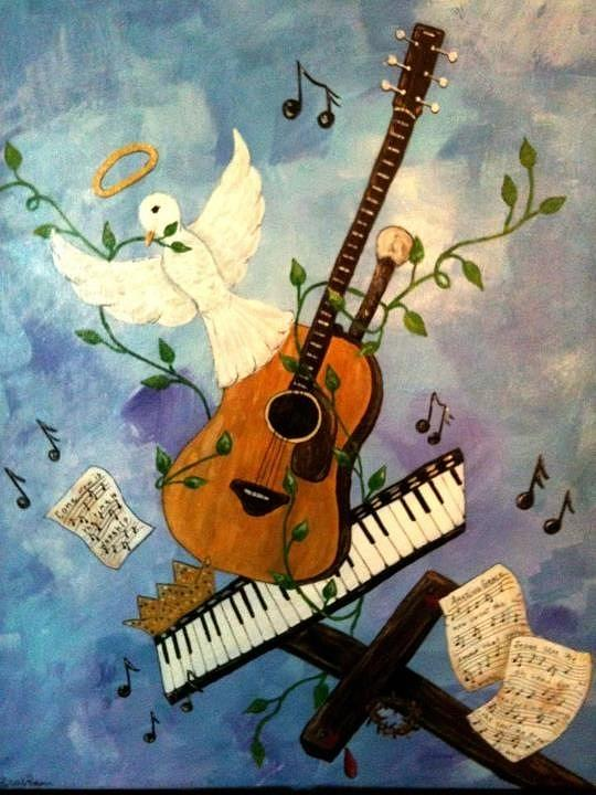 Gods Music Painting  - Gods Music Fine Art Print
