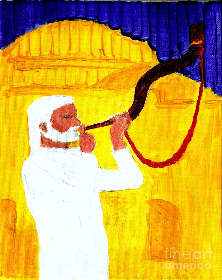 Gods Shofar Blast Is Calling Israel To Keep The Sabbath Day Holy And Build The Jerusalem Temple 1 Painting  - Gods Shofar Blast Is Calling Israel To Keep The Sabbath Day Holy And Build The Jerusalem Temple 1 Fine Art Print