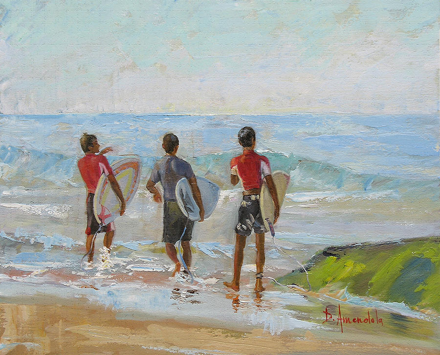 Going For The Surf Painting