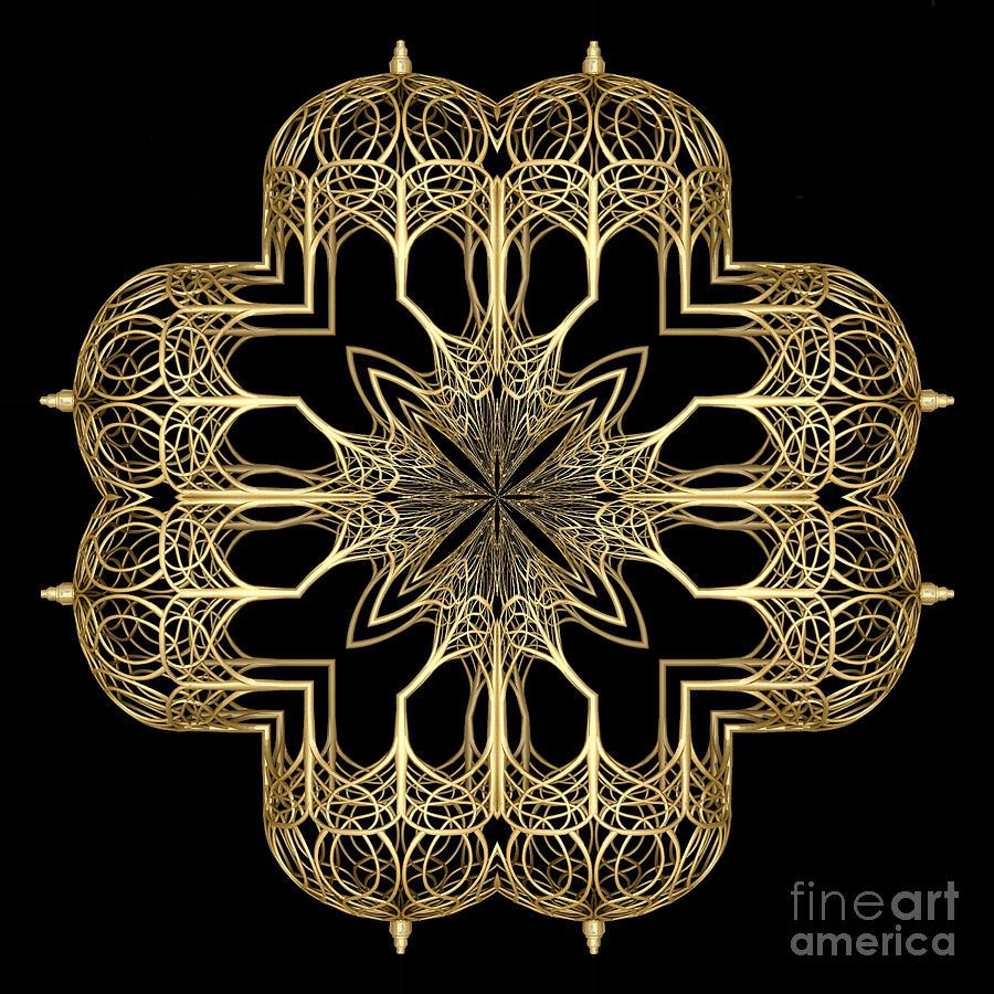 Gold Cage Photoart Digital Art