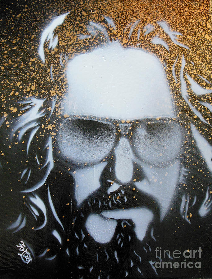 Thebiglebowski Painting - Gold Dude  by Christopher  Chouinard