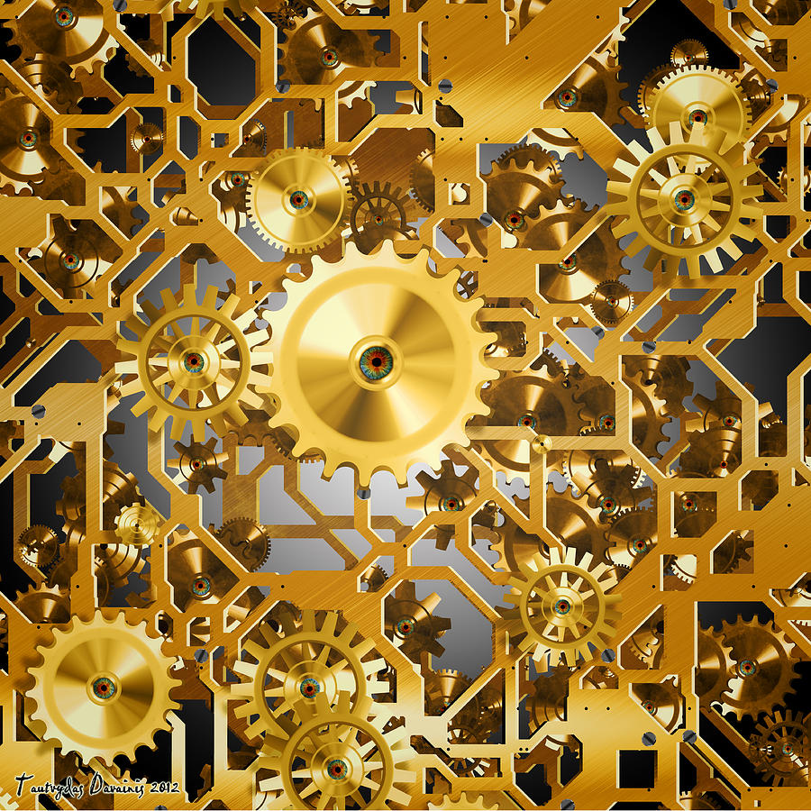 Gold Time.  Digital Art
