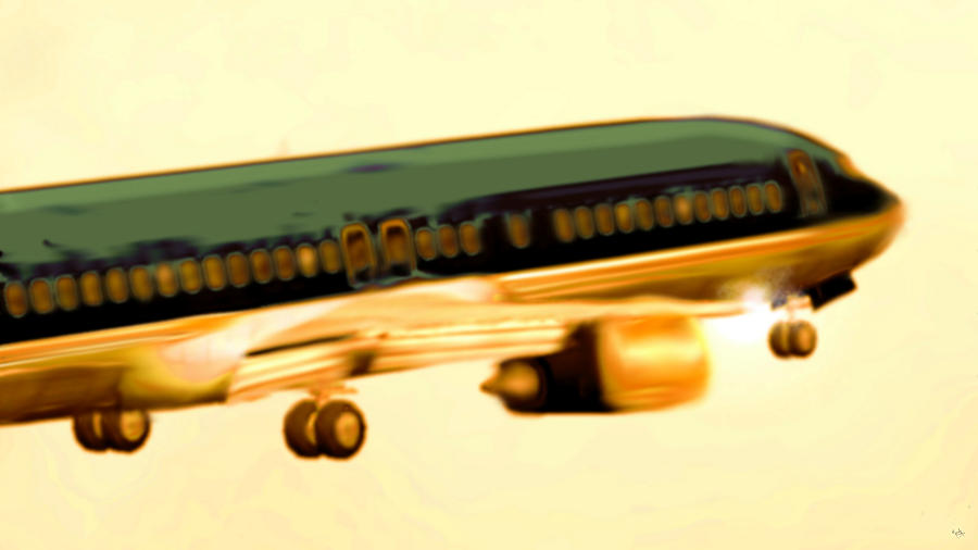 Golden And Bronze Rust Digital Art