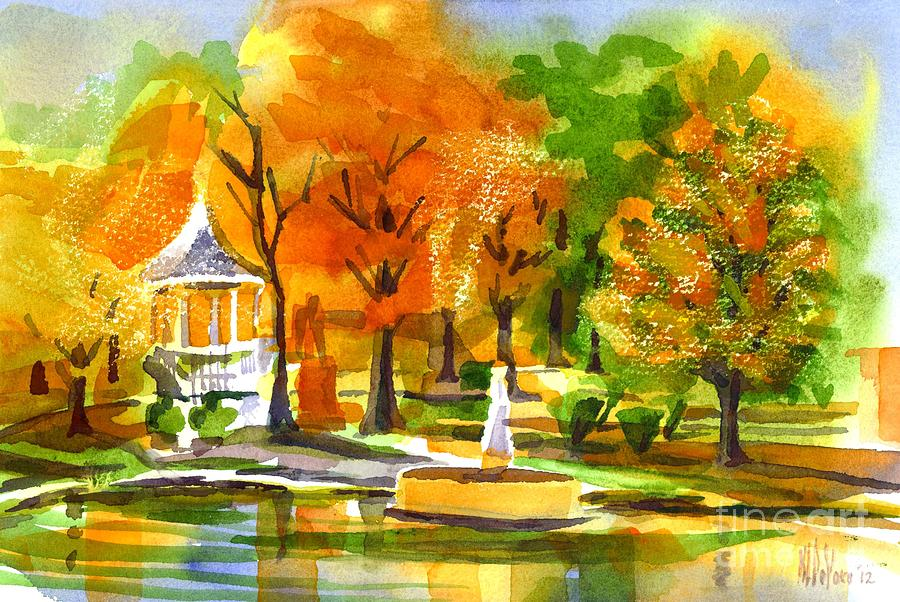 Golden Autumn Day 2 Painting  - Golden Autumn Day 2 Fine Art Print