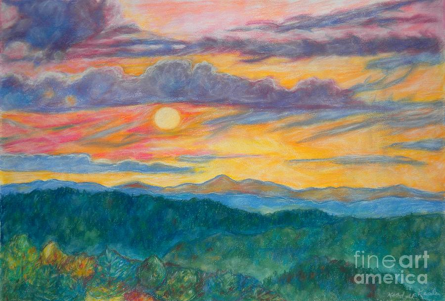 Golden Blue Ridge Sunset Painting