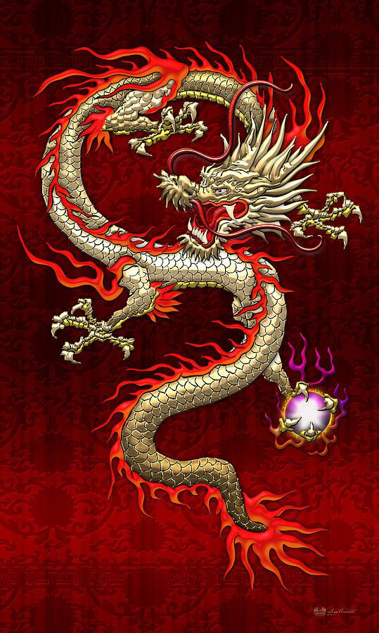 Red asian dragon