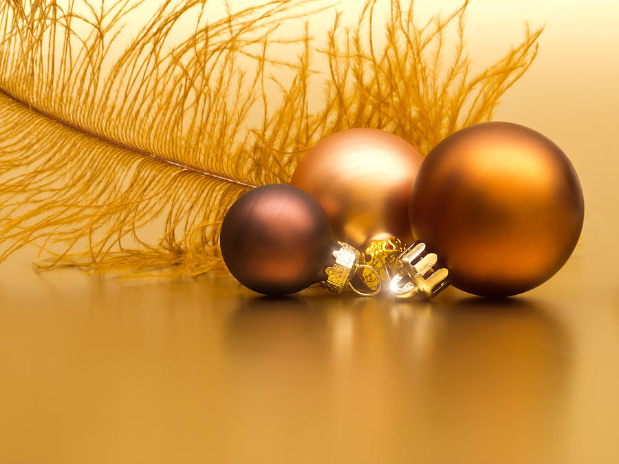 Golden Christmas Photograph  - Golden Christmas Fine Art Print