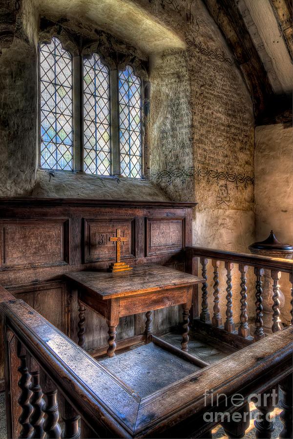 Altar Photograph - Golden Cross by Adrian Evans