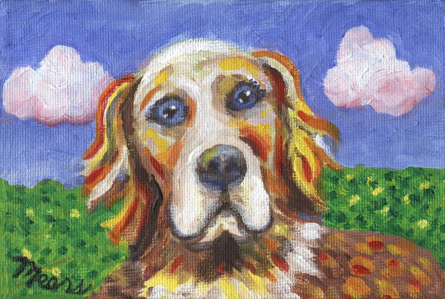 Golden Dog Painting