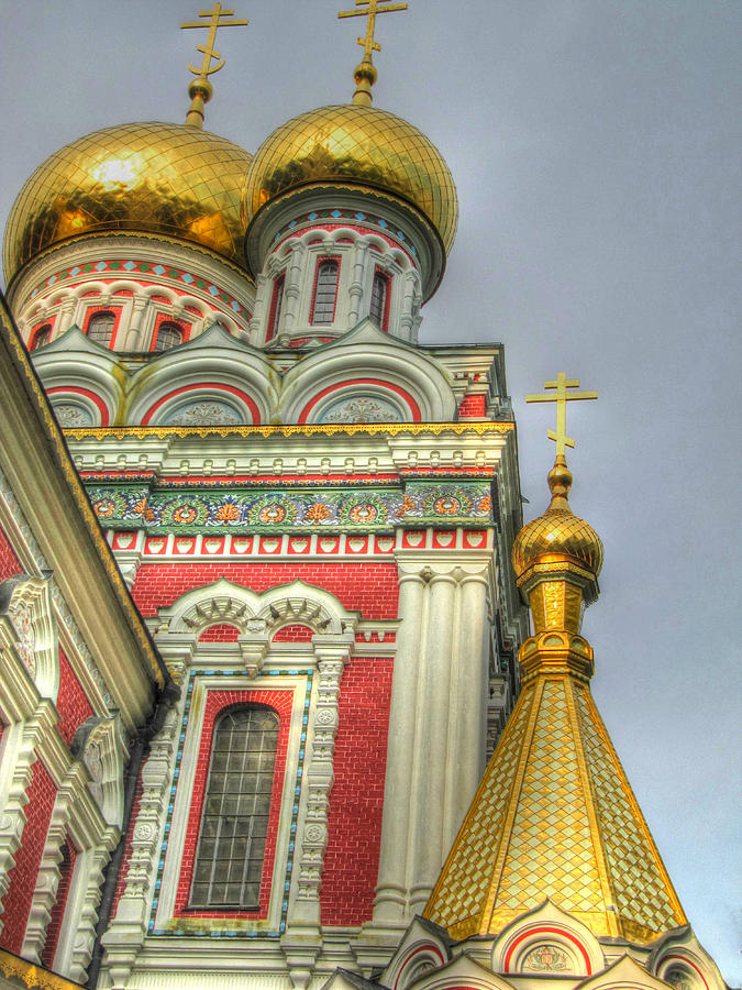 Golden Domes Of Russian Church Photograph