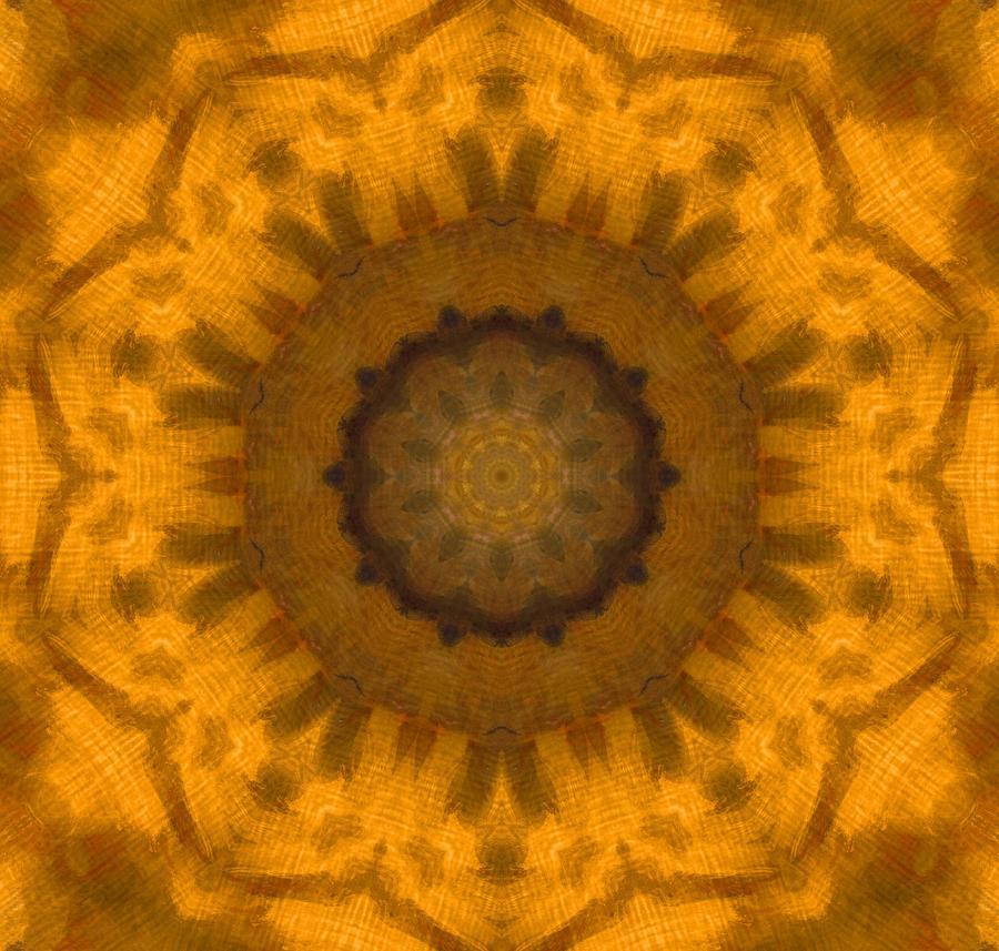 Golden Flower Painting - Golden Flower by Dan Sproul