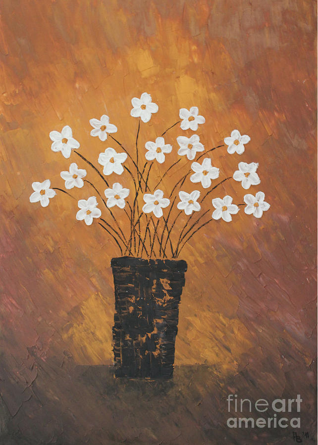 Golden Flowers Painting
