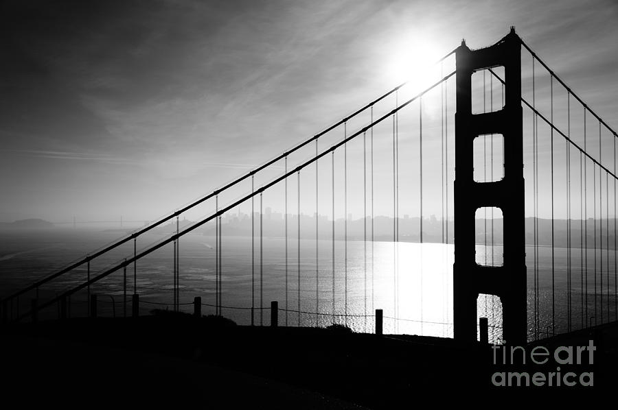 Golden Gate And Bay Bridges Photograph