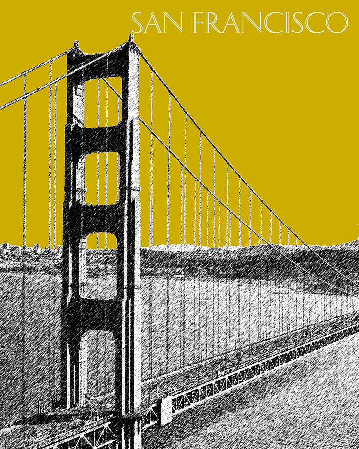 Golden Gate Bridge 1 Digital Art  - Golden Gate Bridge 1 Fine Art Print