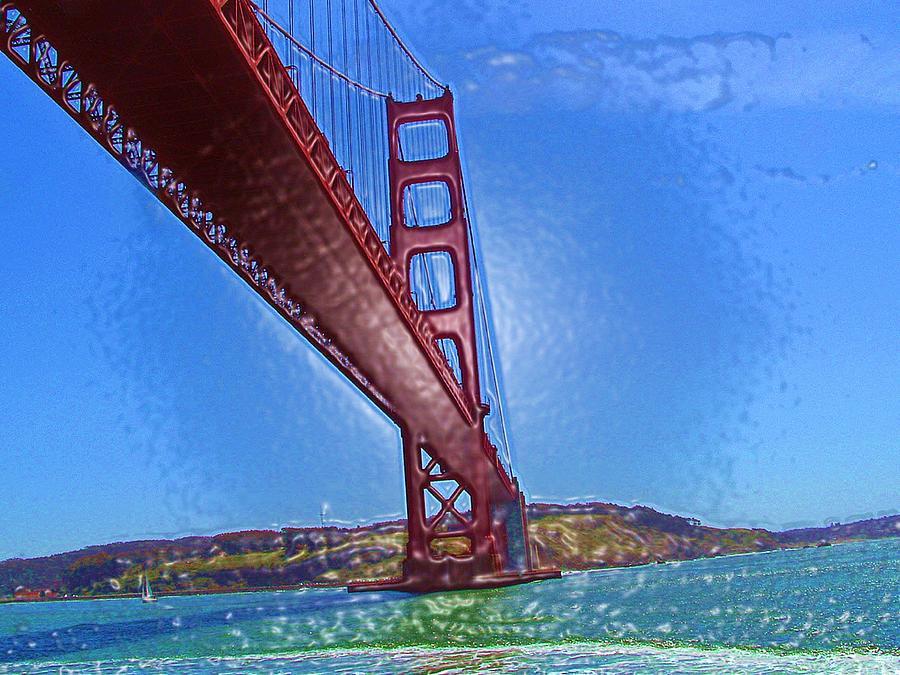 Golden Gate Bridge Abstract Photograph by Lorna Hooper