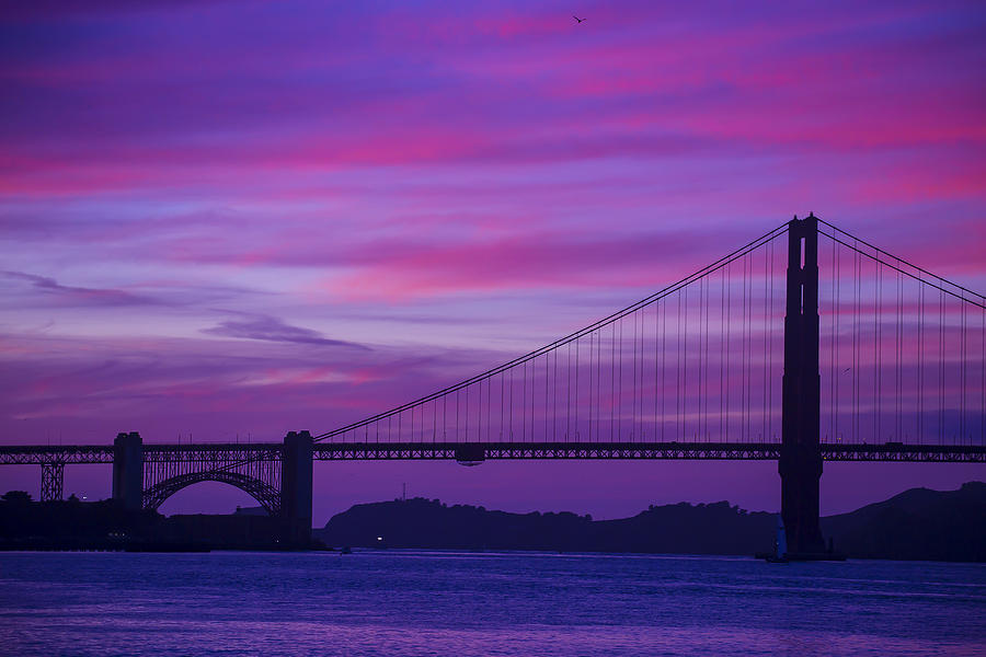 Golden Gate Bridge At Twilight Photograph