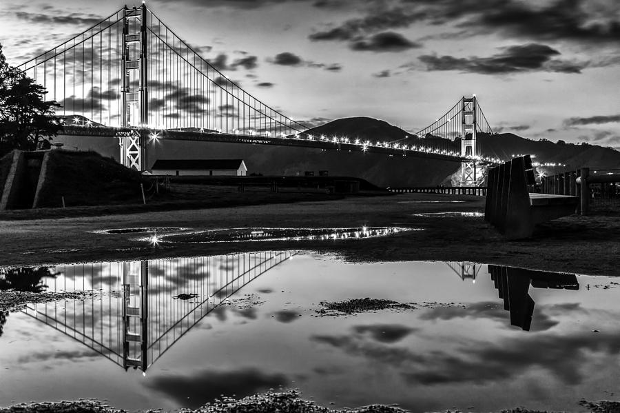Golden Gate Bridge Self Reflection Photograph