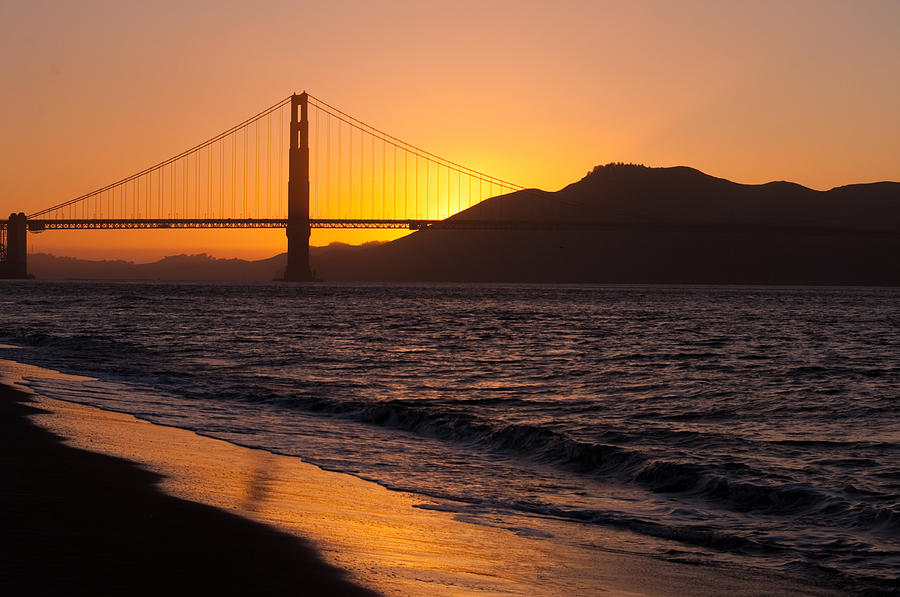 Golden Gate Bridge Sunset is a photograph by Donna Doherty which was ...