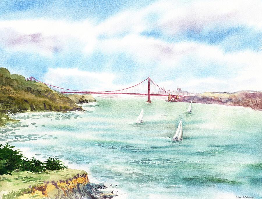 Golden Gate Bridge View From Point Bonita Painting