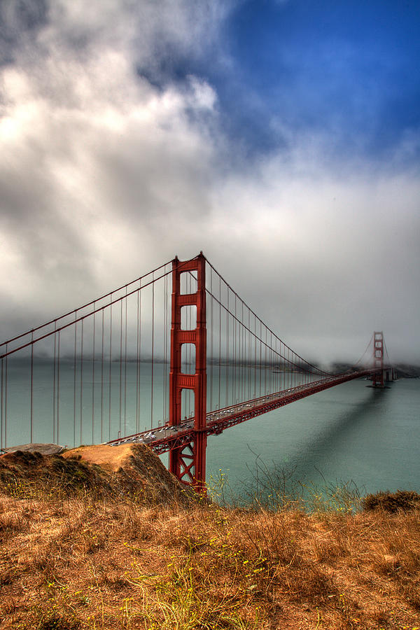 California Photograph - Golden Gate In The Clouds by Peter Tellone