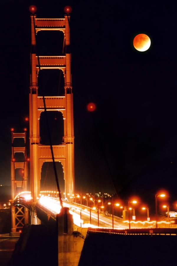 Golden Gate Night Photograph  - Golden Gate Night Fine Art Print