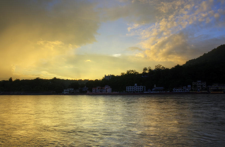 Golden Hour - Rishikesh Photograph  - Golden Hour - Rishikesh Fine Art Print