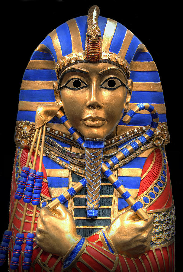 Golden Inner Sarcophagus Of A Pharaoh Digital Art