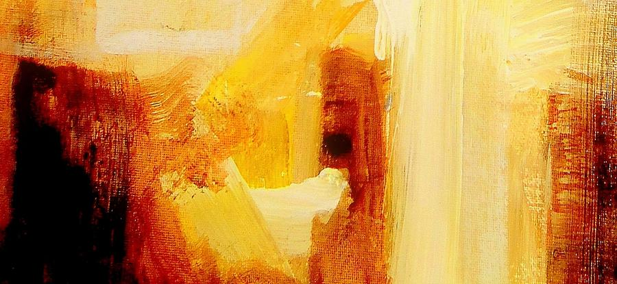 Golden Light Abstract Painting