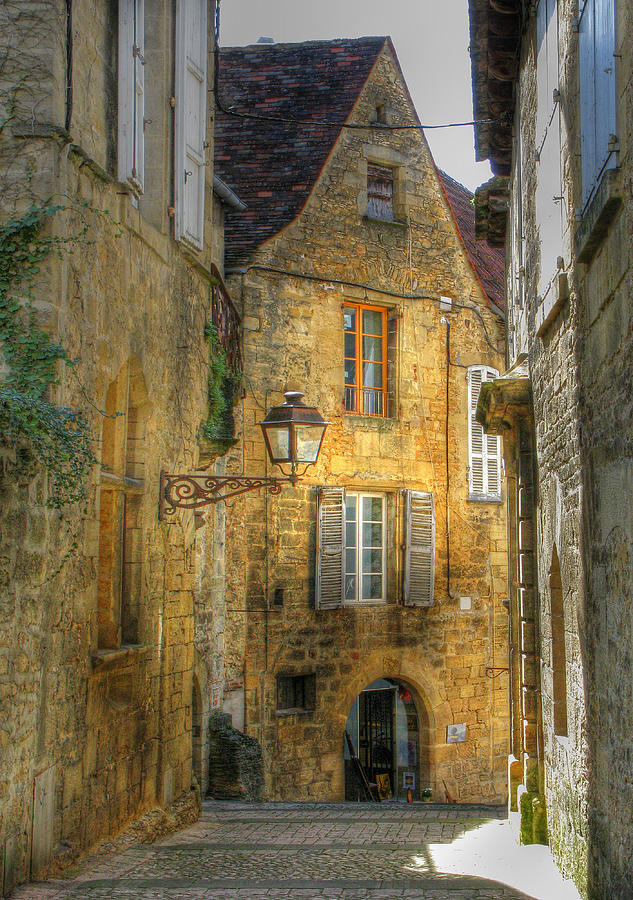Golden Light In Sarlat Photograph