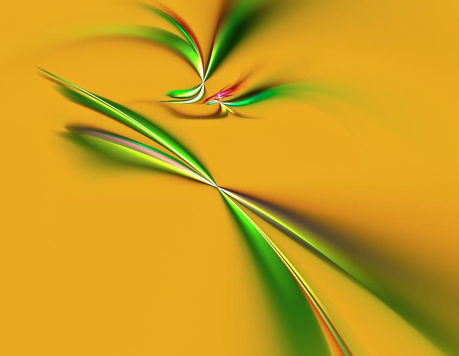 Golden Mystic Digital Art