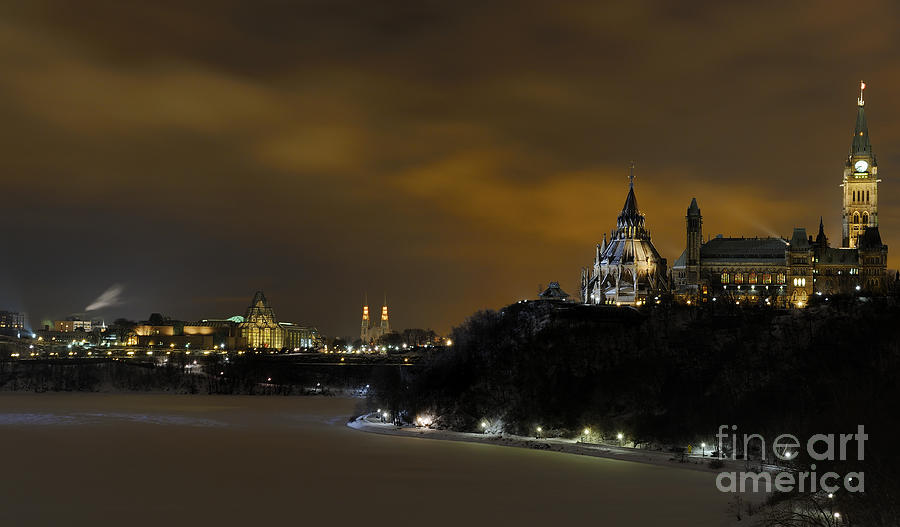 Night Photograph - Golden Night... by Nina Stavlund