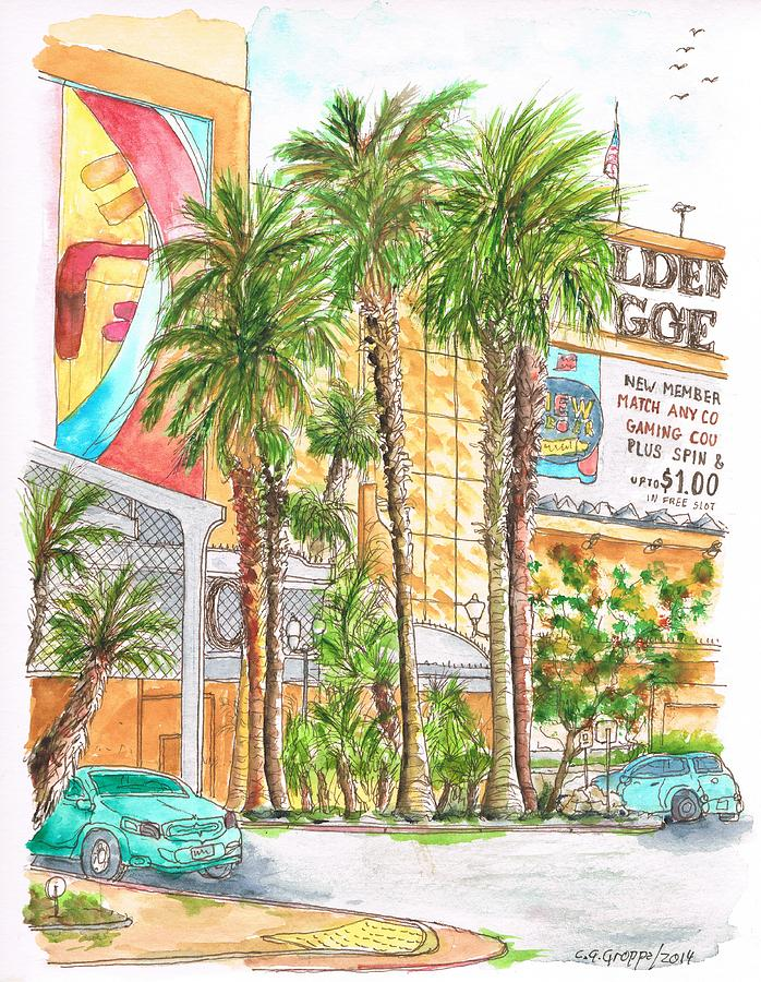 Golden Nugget Hotel And Casino Entrance, Laughlin, Nevada Painting