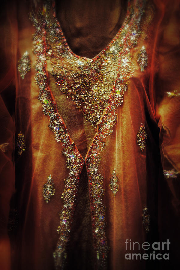 Golden Oriental Dress Photograph  - Golden Oriental Dress Fine Art Print