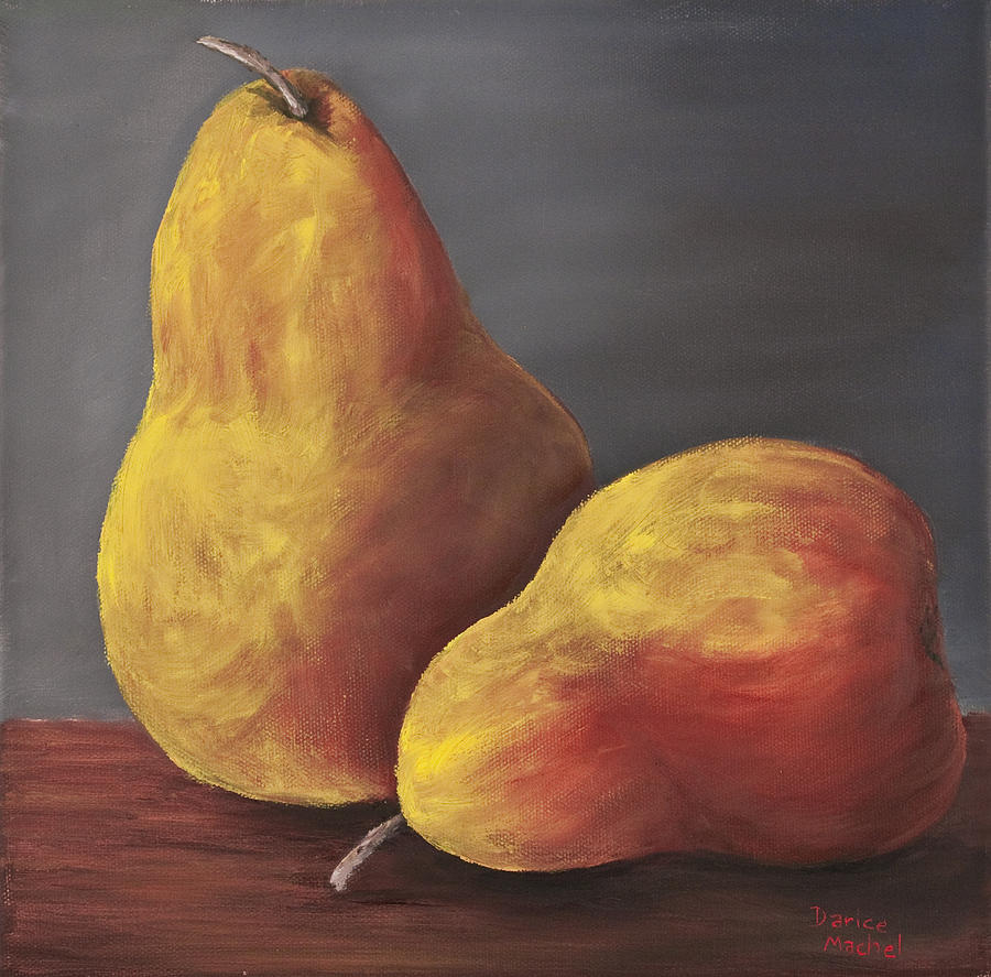 Golden Pears Painting